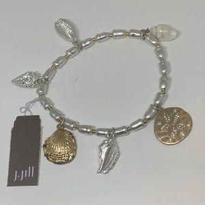 J. Jill beach gems stretch bracelet